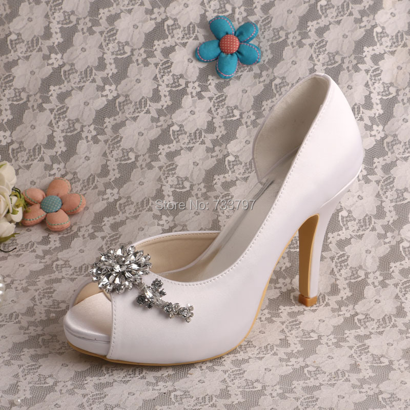 Wedopus MW542 Fancy Bridal Shoes with Platform High Heels Crystal Shoes Woman Fashion Dropship
