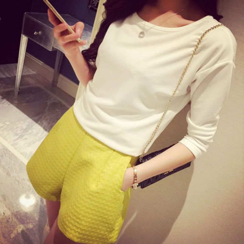 New Arrival 2018 Summer Shorts Women Middle Waist Shorts Personality Women Casual Loose Shorts Sexy Lace Short