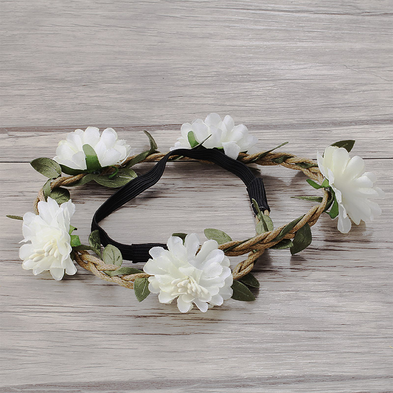 Women Girl Bridal Boho Flower Headband Festival Wedding Floral Garland