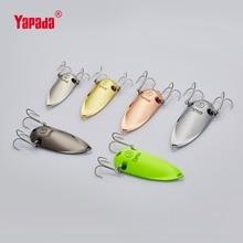 YAPADA Spoon 001 Holographic Cicada 10g/15g/20g25g Multicolor 45-60mm Treble HOOK Metal Spoon Multicolor Fishing Lures