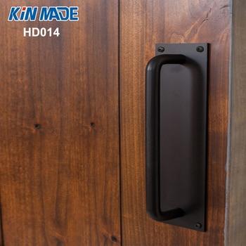 KINMADE  Square Plate Vintage Barn Door Handle Industrial Studio Wooden Door Pull