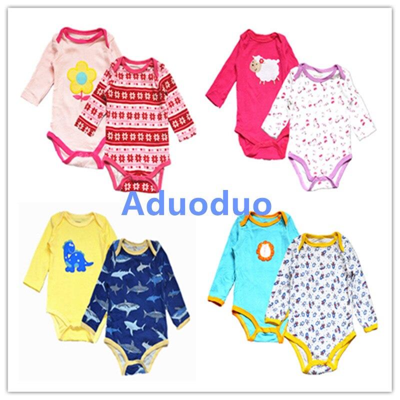 2 pcs lot Fantasia Baby Boy Bodysuit Girl Jumpsuit Bebe Overall long Sleeve Body Suit Baby