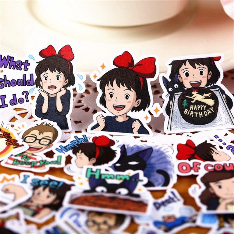 40 Pcs Cute Student Sister Sticker For Kid DIY Laptop Waterproof Skateboard Moto Phone Car Toy Scrapbooking Stickers