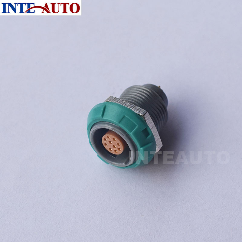 Lemo connector,plastic medical connector,wire socket, Cross 10 pins Redel connector PKG.M1.0GL.LG,Solder Contacts plastic lemo