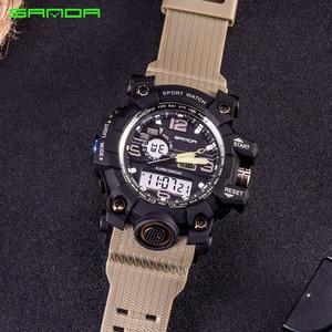 Image 5 - SANDA Men Military Sports Watches Male LED Digital Watch Waterproof Watch Men Luminous Chronograph Relogio Masculino