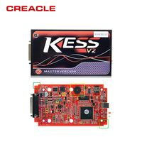 KESS V2 V5.017 Red PCB No Token Limited with ECM Titanium ECU programming tool Car/Tractor/Bike Kess V2.23 Master Version