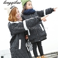 Autumn Winter baby mom family matching clothes casual mother daughter dresses fashion family matching outfits Black coat