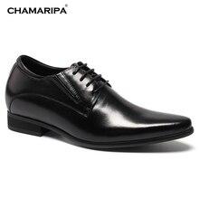 CHAMARIPA Increase Height 8cm 3 15 inch Elevator Shoes Men Dress Shoes Gentlemen Height Increasing Hidden