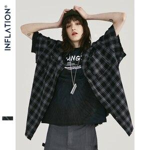 Image 3 - INFLATION Men Plaid Shirt Men Shirts 2019 New Summer Fashion Homme Mens Checkered Shirts Short Sleeve Shirt Men Blouse 9253S