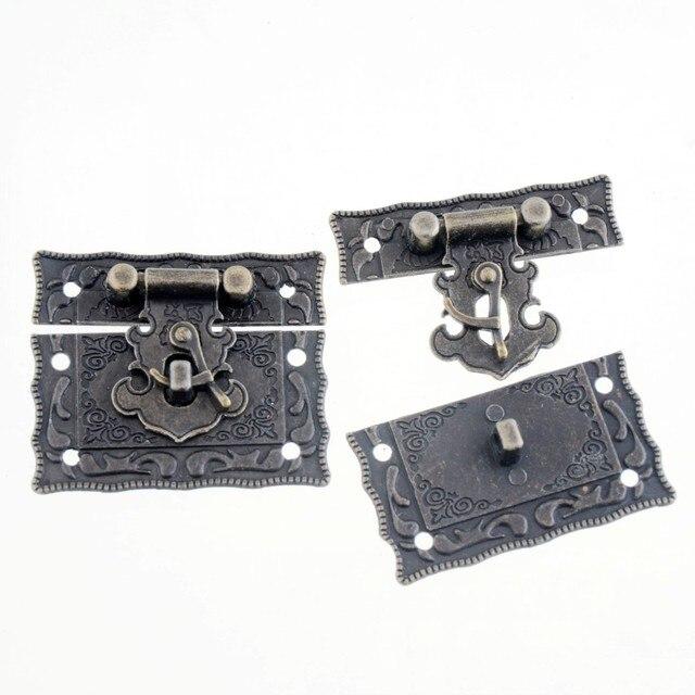 Free Shipping 1Set Jewelry Box Hasp Latch Lock Decorative Hasp