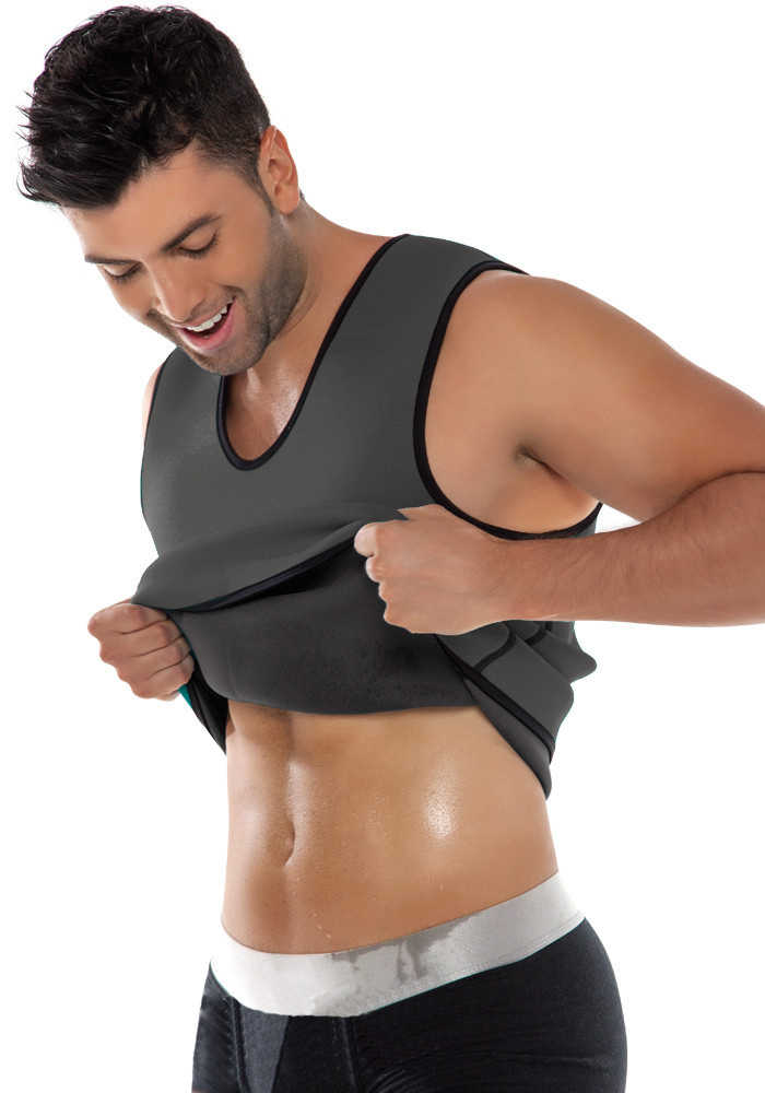 4bb75fee88e68 Hot Shapers Men Ultra Sweat Thermal Muscle Shirt Neoprene slimming body  shaper belly waist and abdomen
