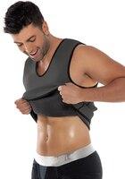 Hot Shapers Men Ultra Sweat Thermal Muscle Shirt Neoprene Slimming Body Shaper Belly Waist And Abdomen