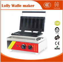 1500W Commercial 6pcs NonStick lolly Waffle Maker Muffin Sausage Stick Baker