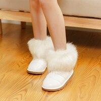 Sıcak satış! 2016 Çocuk kız kar boots faux fox kürk çocuklar kış boots sneaker ayakkabı için kürk sıcak windproof pamuk-yastıklı ayakkabı
