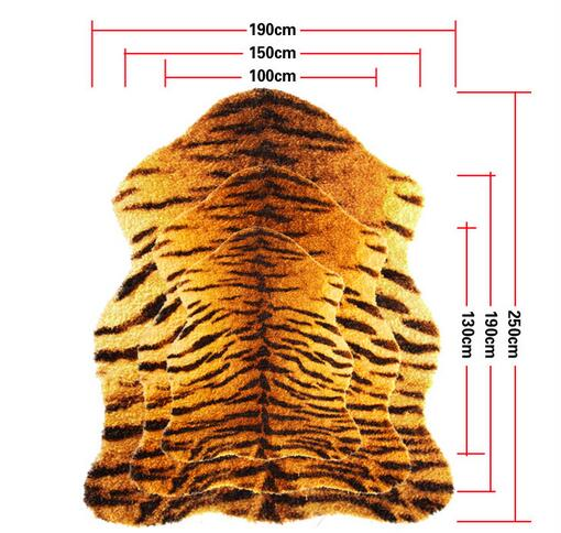 Free shipping new design 100 nylon faux tiger skin rug playmat animal tiger rug for children - Faux animal skin rugs ...
