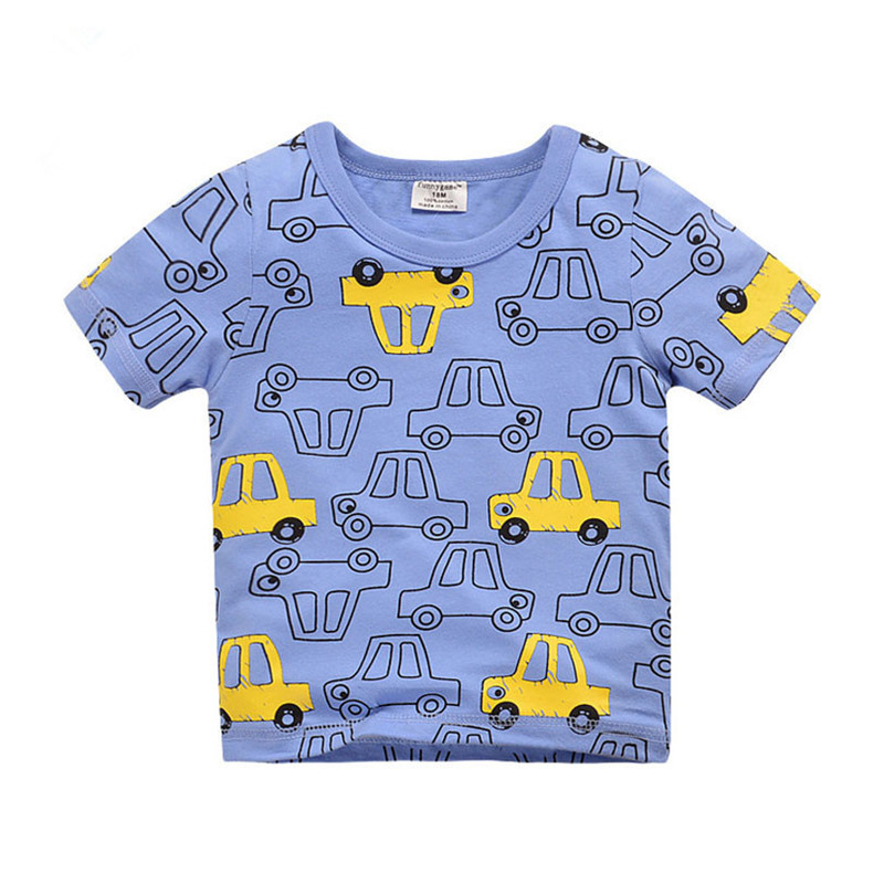 18M-6T Fashion Kids Baby Cotton T-shirt Tops Boys Girls Tee T Shirt Children Tshirt Toddlers Baby Clothing 2018 Summer Clothes
