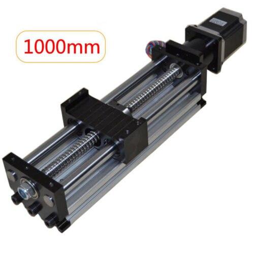 High Quality Ball Screw Linear CNC Slide Stroke 1000mm Long Stage Actuator Stepper Motor цена
