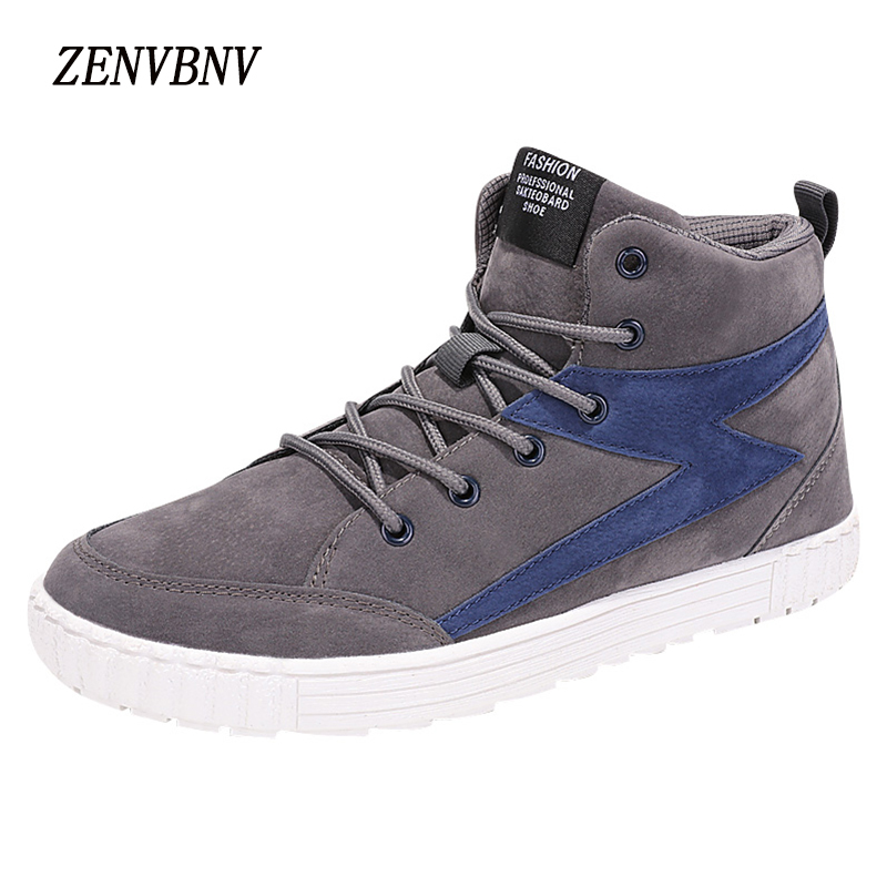 ZENVBNV Winter Brand Men Shoes England Trend Casual Leisure Shoes Leather Shoes Breathable For Male Footear Fashion Men's Flats bimuduiyu new england style men s carrefour flat casual shoes minimalist breathable soft leisure men lazy drivng walking loafer