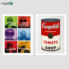 Campbell's Soup Tomato Art Print by Andy Warhol Quote Wall Art Decor Moon Canvas Painting Wall Picture No Frame for Home Decor цены