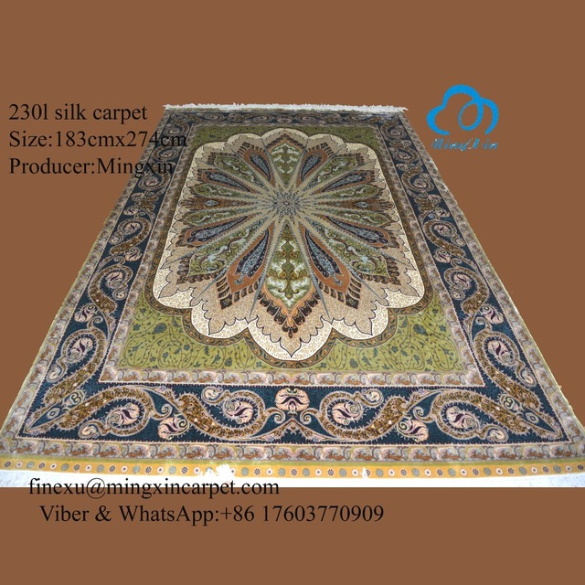 183cmx274cm Handknotted Silk Carpet Rugs Top Quality Whole Price 2016 Best Ing New Fashion Modern