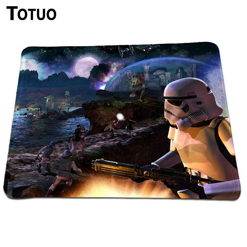 Горячие Звездные войны Галактическая боя коврик для мыши Прочный игровой силиконовый коврик для компьютерной мыши анимации противоскольз...