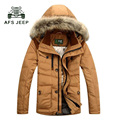 2017 Hot sale Men's down coat winter warm thick down jacket Men high quality White duck down coat winter  jacket Man 196 CQ