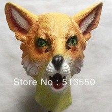 Halloween Cosplay Full Latex Animal Fox Head Mask