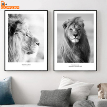 COLORFULBOY Masai Lion Animal Wall Art Print Nordic Posters And Prints Paintings Landscape Canvas Pictures For Living Room Decor