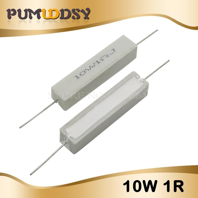 10Pcs 10 W 5 Ohm 5R 5/% Résistance Céramique Ciment Résistance Jo