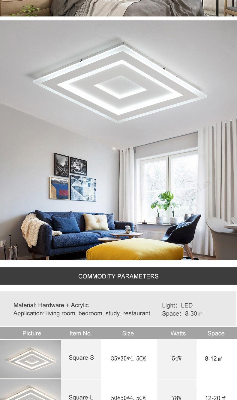 Luminaire Modern Led Ceiling Lights For Living Room Study Room ...