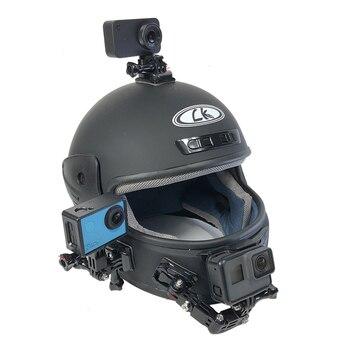 אופנוע קסדת הר מעוקל דבק זרוע לxiaomi יי 4K Gopro גיבור 8 7 6 5 4 SJCAM sj4000 eken H9 פעולה מצלמה אבזרים