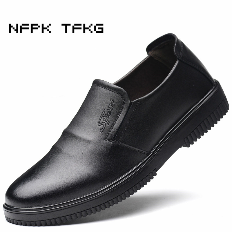 large size mens fashion working safety insulation summer chef shoes cow leather kitchen waterproof oil proof