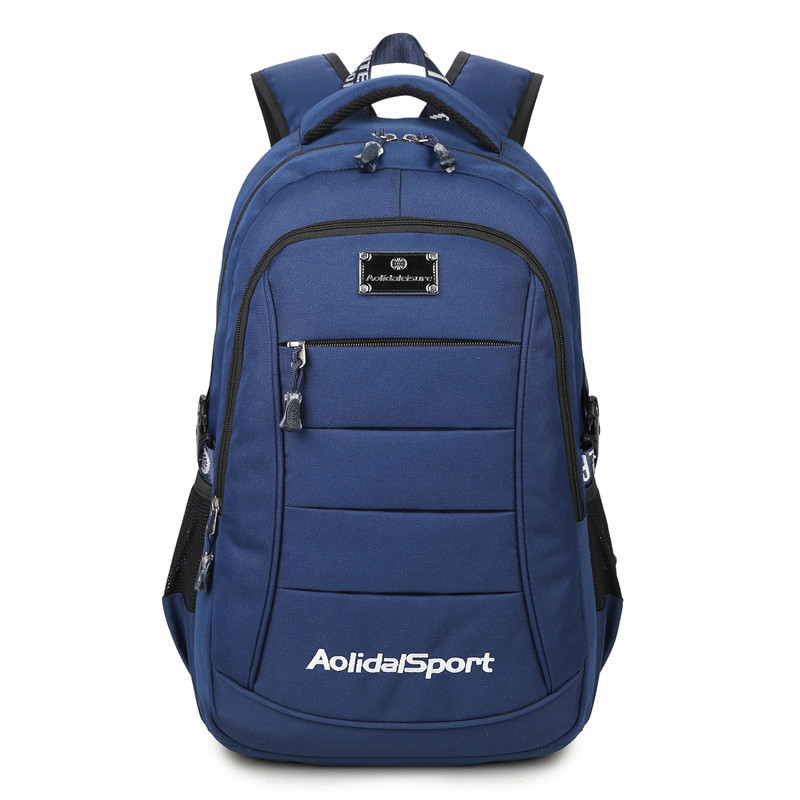Подробнее о Men Oxford Cloth Fashion Leisure Simple Backpack Waterproof Student School Large Black Blue Canvas Polyester Computer Travel Bag heavy weight duty waterproof oxford cloth multifunctional canvas tool bag 12 13 16 adjustable strap black yellow blue bags