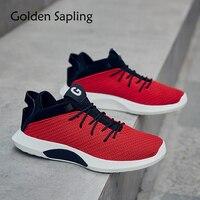 Golden Sapling Men Basketball Shoes Men S High Top Sneakers Men Breathable Air Mesh Fabric Male