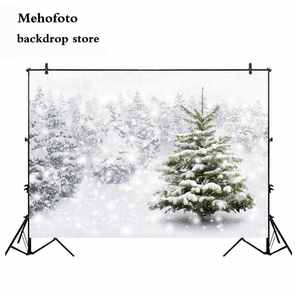 White Christmas Snow Background.Mehofoto 7x5ft Winter Snow Tree Backdrop White Christmas Photography Backdrop Photo Background Studio Background For Picture 166
