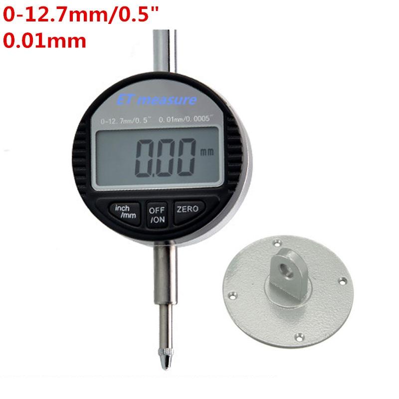 """4 размера цифровой индикатор 0-12,7 мм/0-25,4 мм 0,001 мм 0,0000"""" Электронный микрометр микрометрический/дюймовый индикатор - Цвет: 0-12.7x0.01mm"""
