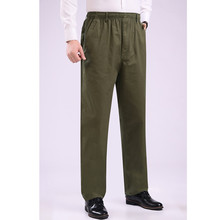 Fashion 2019 Summer Casual thin elastic waist elderly fat Cotton loose high Old men Zipper pocket pants plus size 8XL