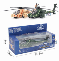 Helicopter Model Metal Alloy Airplane Toy With Pull Back Musical Flashing