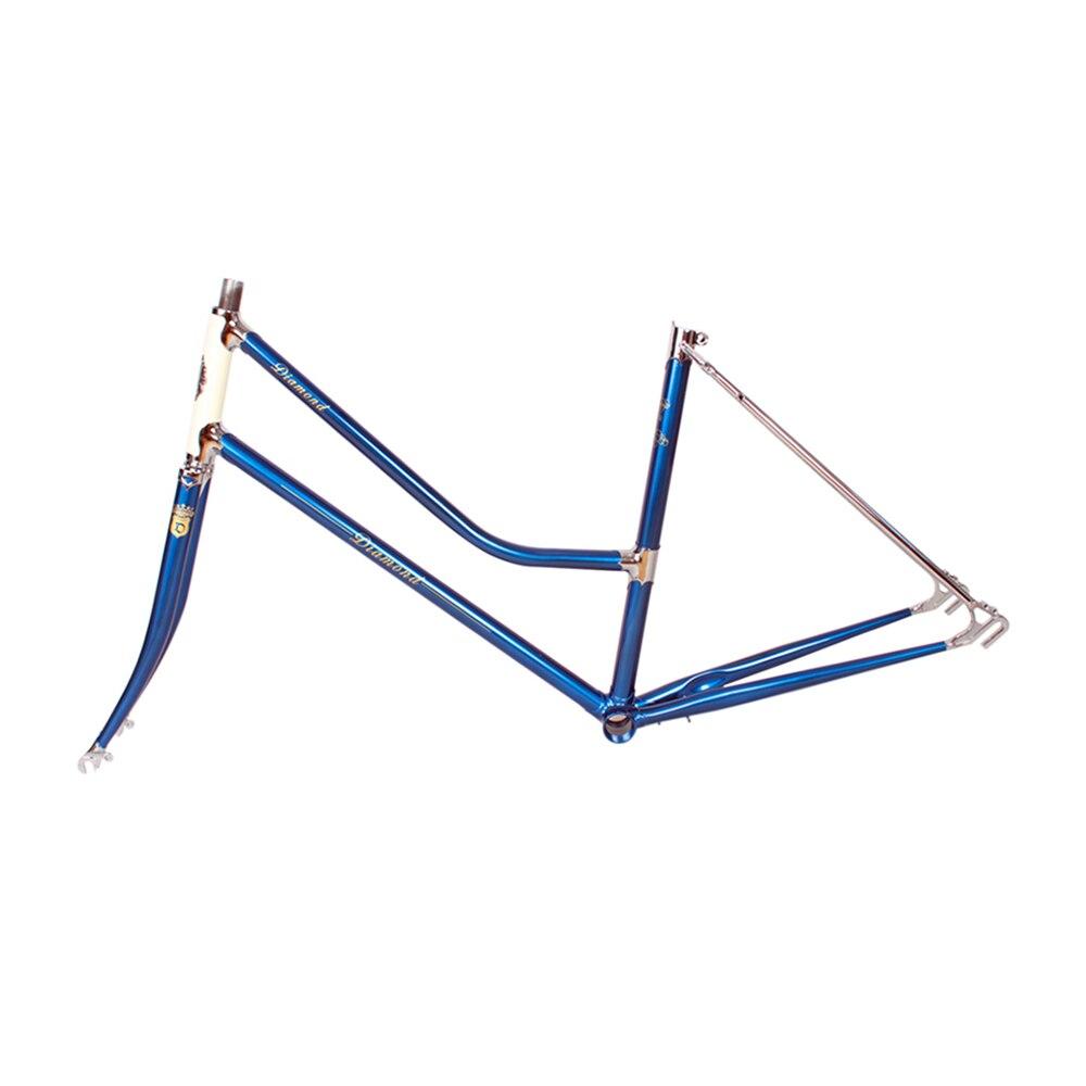 Lady City Road Bike Frame Copper Plated Frame Commuter Bike Reynolds 525 Steel Frame Touring Bicycle Frame 48cm 51cm