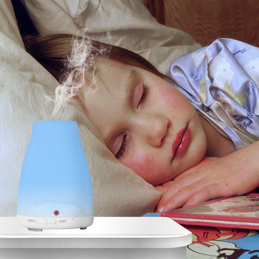100 ml 7 Farben Licht Ultraschall Luftbefeuchter Aromatherapie Aroma - Haushaltsgeräte