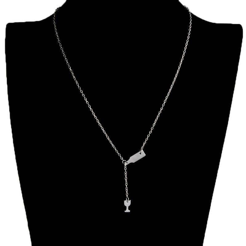 Perhiasan Emas Bir Piala Panjang Liontin Anggur Kalung untuk Wanita Mewah Fashion Kalung untuk Wanita 2018 Laporan Kalung Pesta
