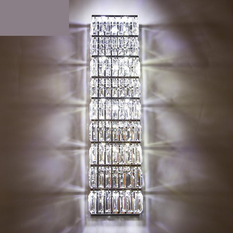 Modern Large Exquisite Crystal Lighting Parlor Tall Wall Sconce Living Room Villa Long Led Indoor Lamp Fixtures In Lamps