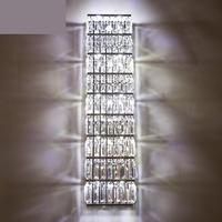 סלון תאורת גביש מודרני גדול מעולה גבוה קריסטל פמוט קיר סלון וילה גדול ארוך גופי מנורת קיר led מקורה