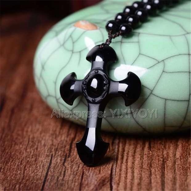 black beads necklace