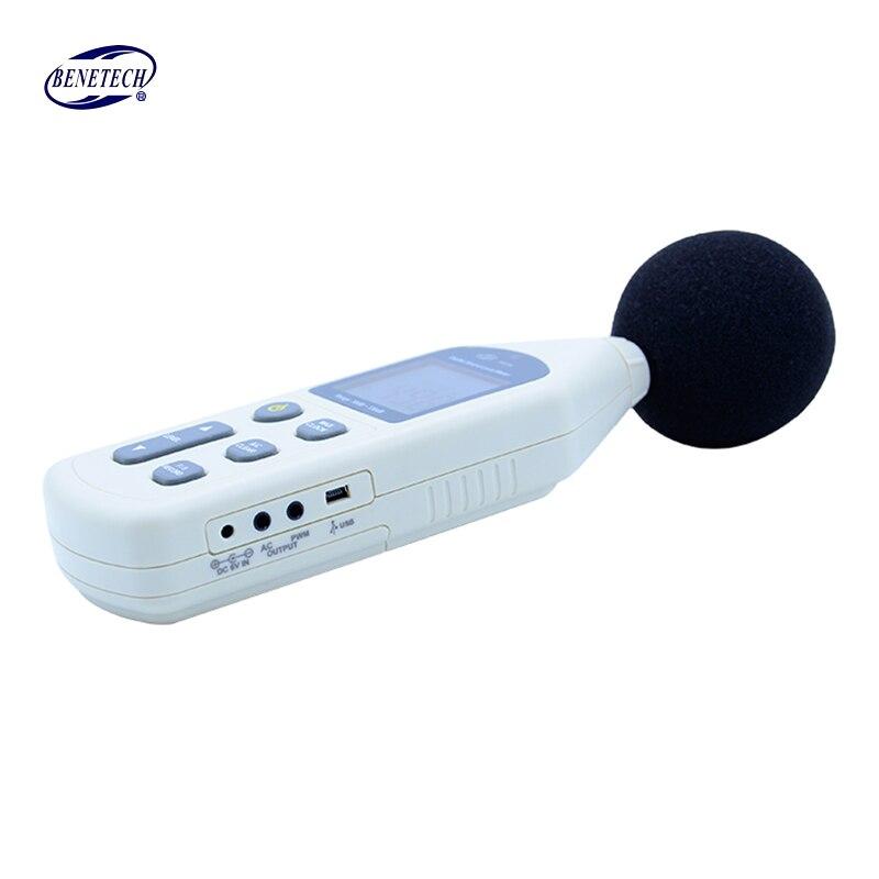 BENETECH GM1356 sonomètre numérique testeur de bruit USB compteur 30-130dB A/C rapide/lent dB + logiciel - 3