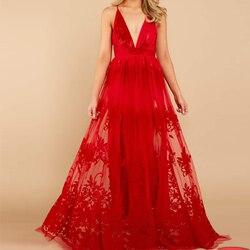 Missord 2020 женское платье с открытыми плечами, сексуальное платье с глубоким v-образным вырезом, элегантное платье макси с открытой спиной, FT19528