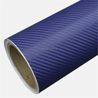 guarantee quality blue gold yellow 3D Carbon Fibre Vinyl With Air Bubble Free Car Wrap Film glue upgrade Size 5ft X 98ft/Roll