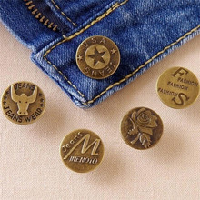 1Pcs Large Size 20 mm metal buttons for jeans Bronze Tone Mixed Buttons For Clothing DIY Sewing Accessories Free Shipping