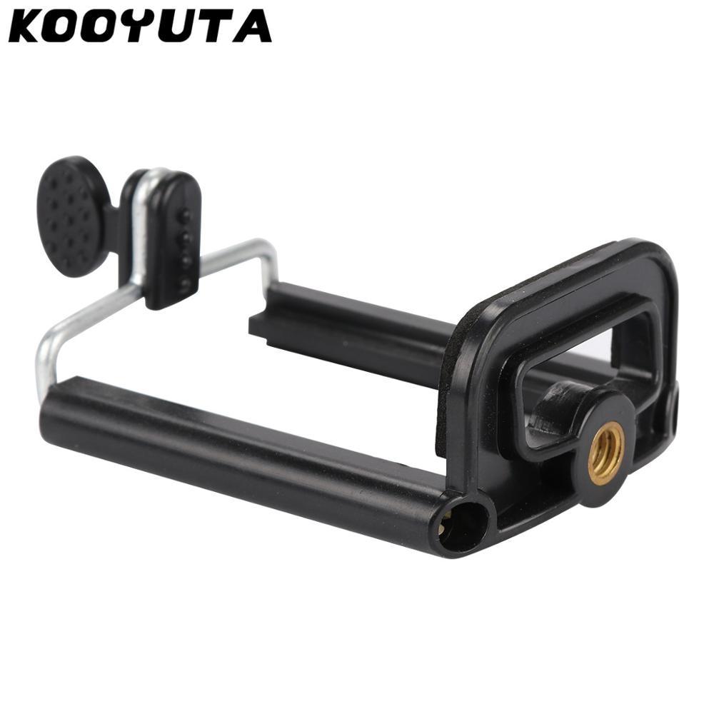 Hot Sale KOOYUTA Phone Clip Holder Mount Bracket Adapter For Smartphone Camera Tripod Stand Mount Monopod For Phone Holder