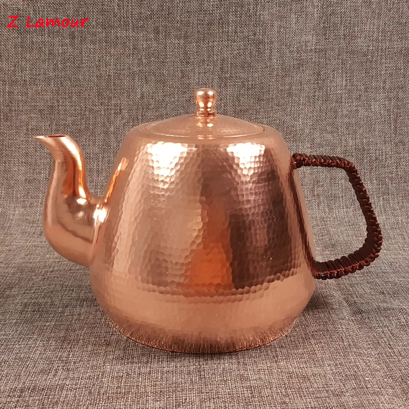 Z Lamour 1 7L Handmade Chinese Red Copper Teapot Large Capacity Kettle China culture
